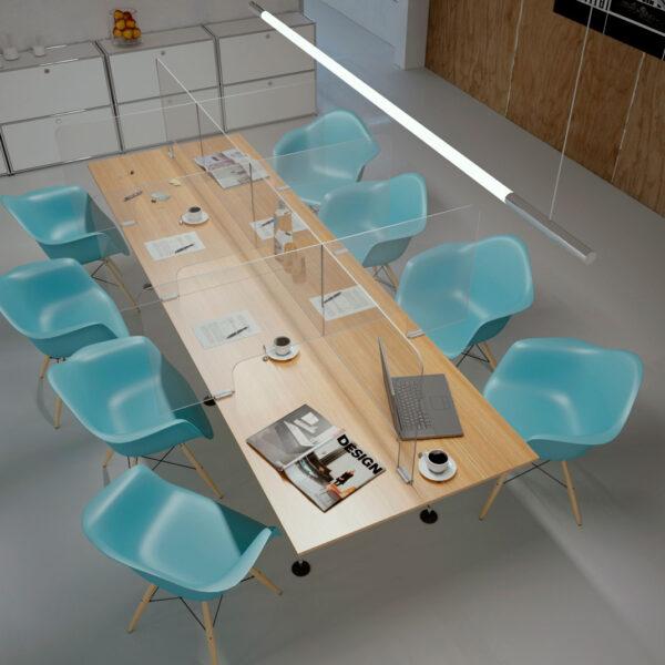 Mamparas para mesas de reunión