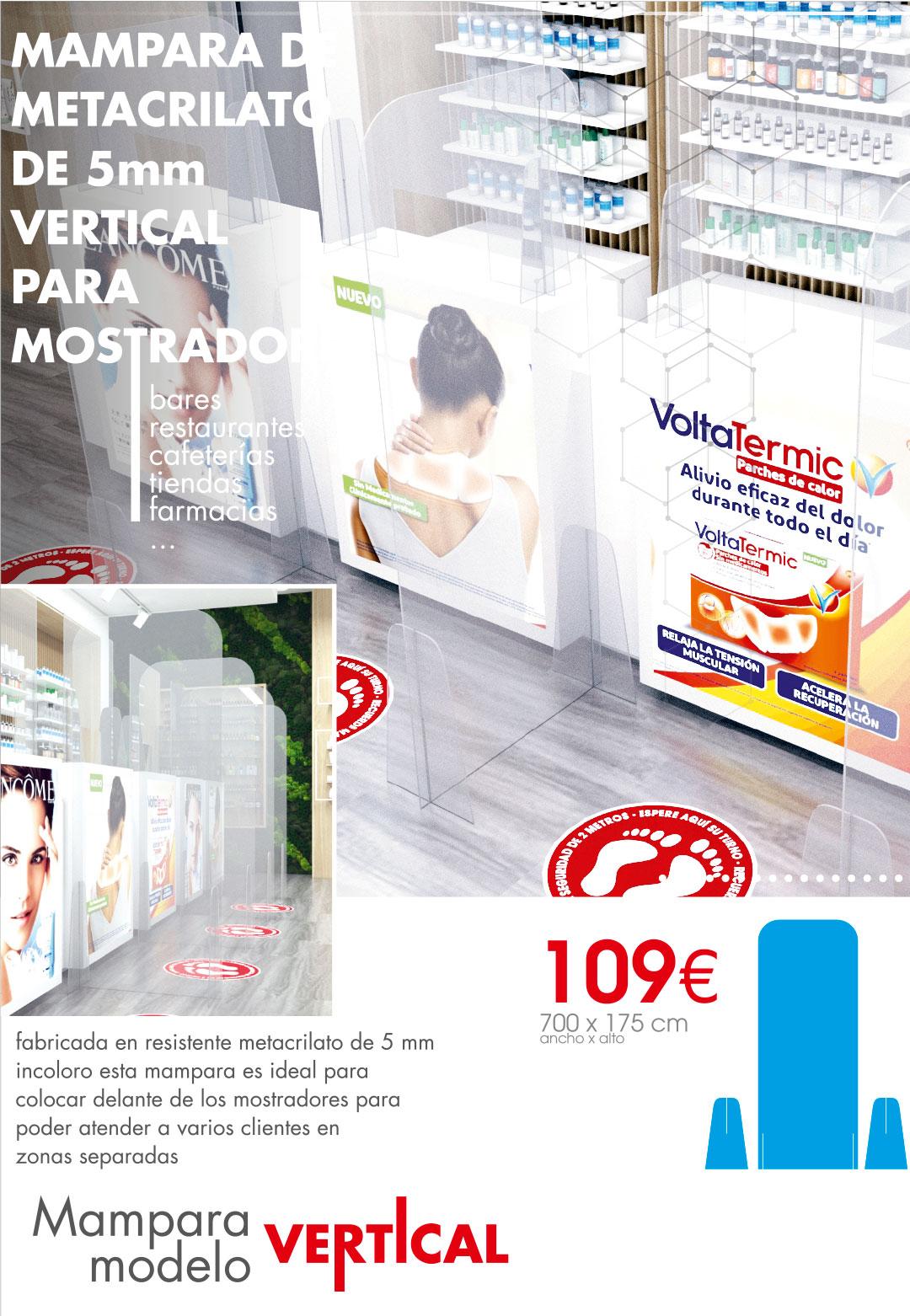 Mampara modelo vertical