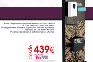 Oferta soporte dispensadores de gel