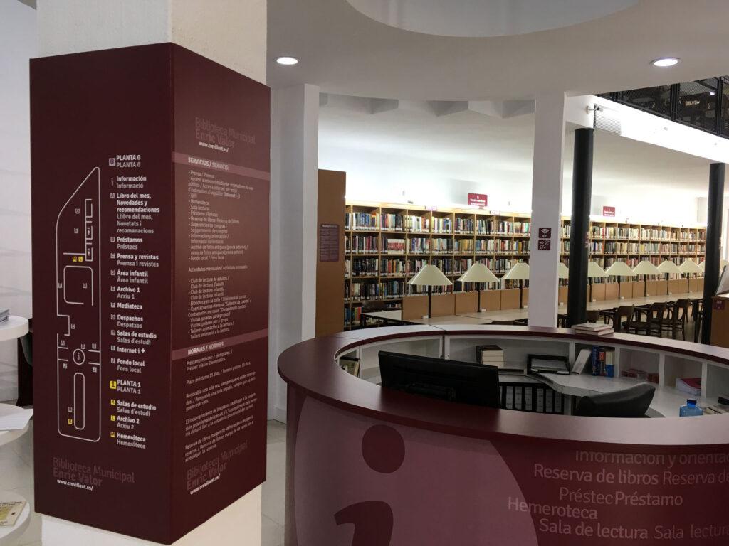 Rotulación de la Biblioteca de Crevillent