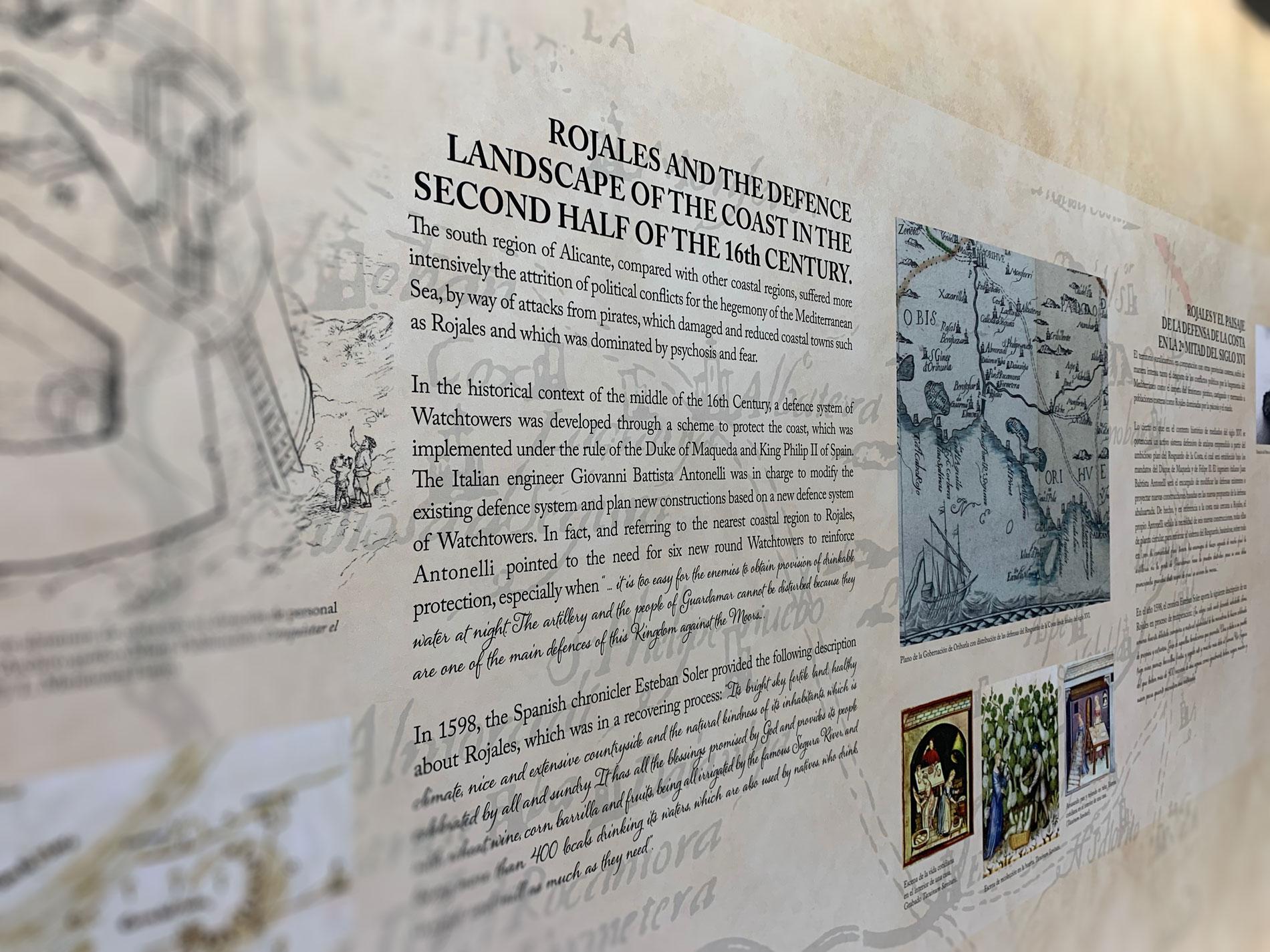 Paneles en el museo de Rojales